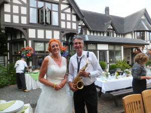 With Heleen the bride at Bentley Brook Inn, Ashbourne on 19th July 2015