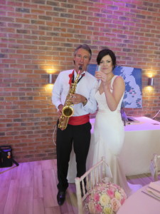 Nigel with bride at Aston Marina on 21st May 2016