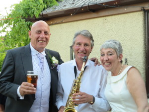 With Eddie and Gill at their wedding reception in Stafford on 29th May 2016