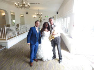 With Chantal & James  at their wedding at the Botanical Gardens,  Birmingham on Sat 6th  August 2016