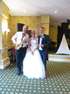 With newly weds Mr & Mrs Campbell at the Hatherton Hotel, Penkridge on Sat 13th August 2016