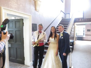 With the happy couple, Lauren & Liam, at Mottram Hall on 20th August 2016
