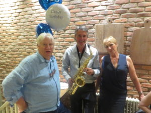With Brian and Jenny at their wedding anniversary party at Pasta di Piazza in Stone on 8th October 2016